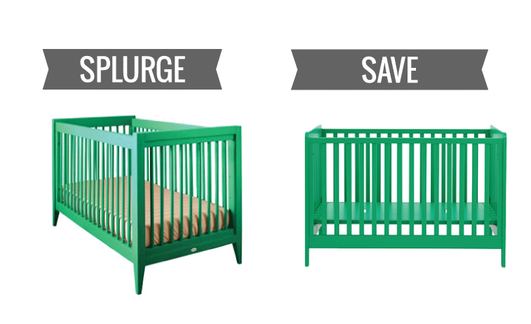 Image of: Green Baby Furniture On Splurge Vs Save Baby Cribs For Every Budget Splurge Vs Save Baby Cribs For Every Budget