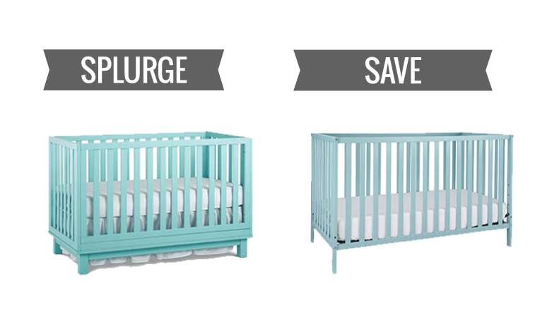 splurge vs save a baby crib for every budget