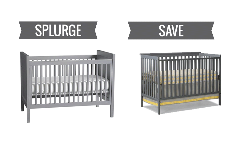 splurge vs save baby cribs for every budget