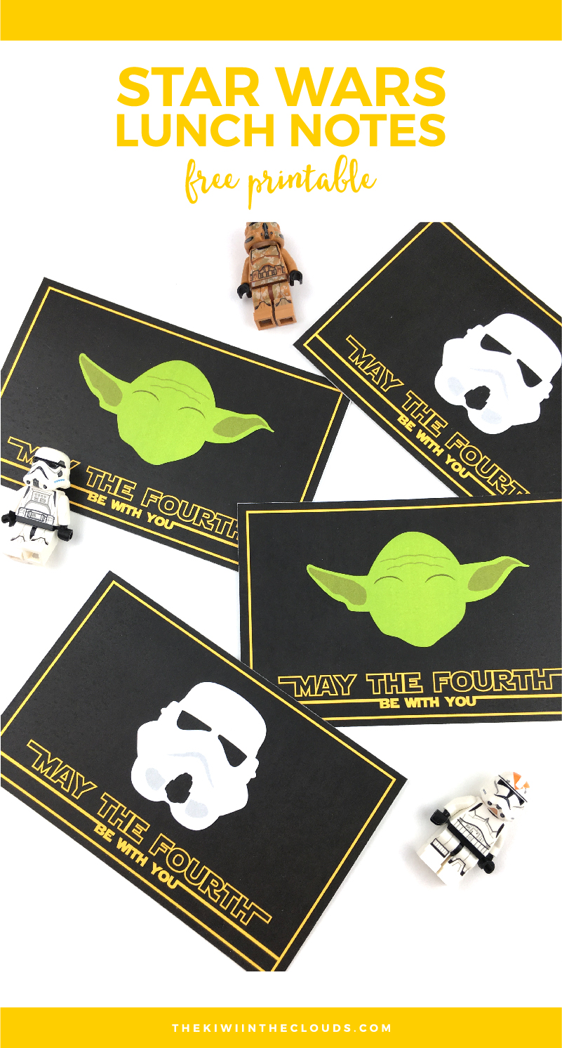 Star Wars May the 4th Be With You Printable Lunch Notes | Come download these free lunch notes to pop a little surprise into your jedi's school lunch!