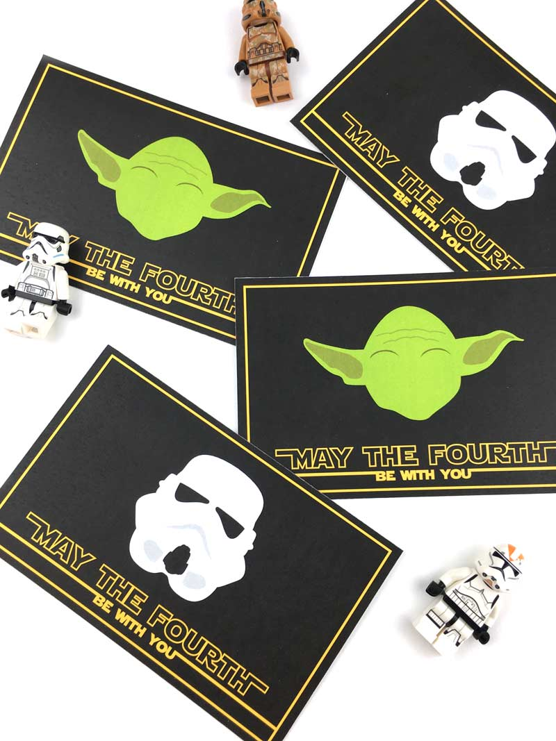 Star Wars May the 4th Be With You FREE Printable Lunch Notes | Come download these free lunch notes to pop a little surprise into your jedi's school lunch!