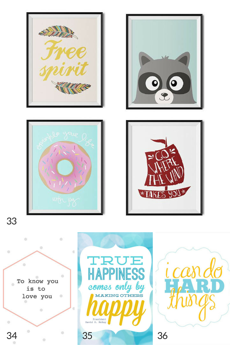 free kids art printables