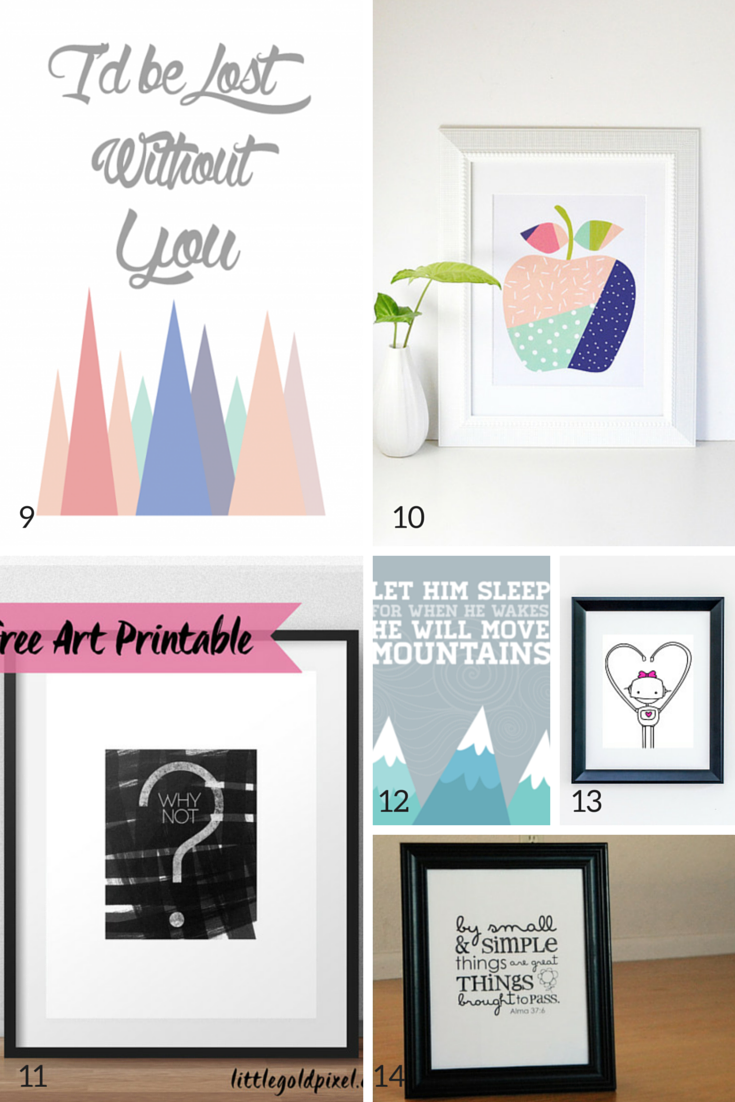 image relating to Free Printable Nursery Art identified as 100 Free of charge Nursery Printables Thatll Appearance Terrific In just Each