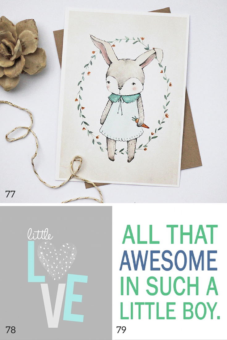100 free nursery printables that'll look good in every baby's room