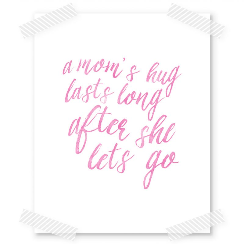 "Mother's Day Free Printable Quote | Download your free 8""x10"" print to give to your mom for Mother's Day."