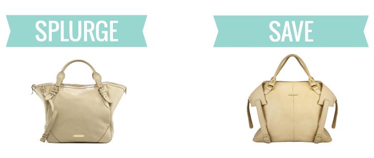 Designer handbag vs Timi & Leslie
