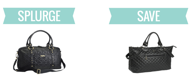 splurge vs save: diaper bags by www.simpleeverydaymom.com