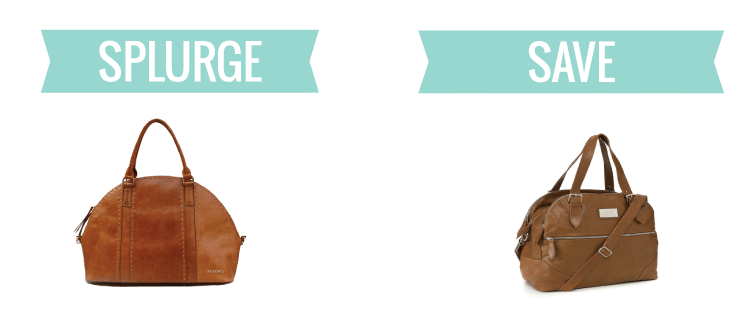 splurge vs save: leather diaper bags