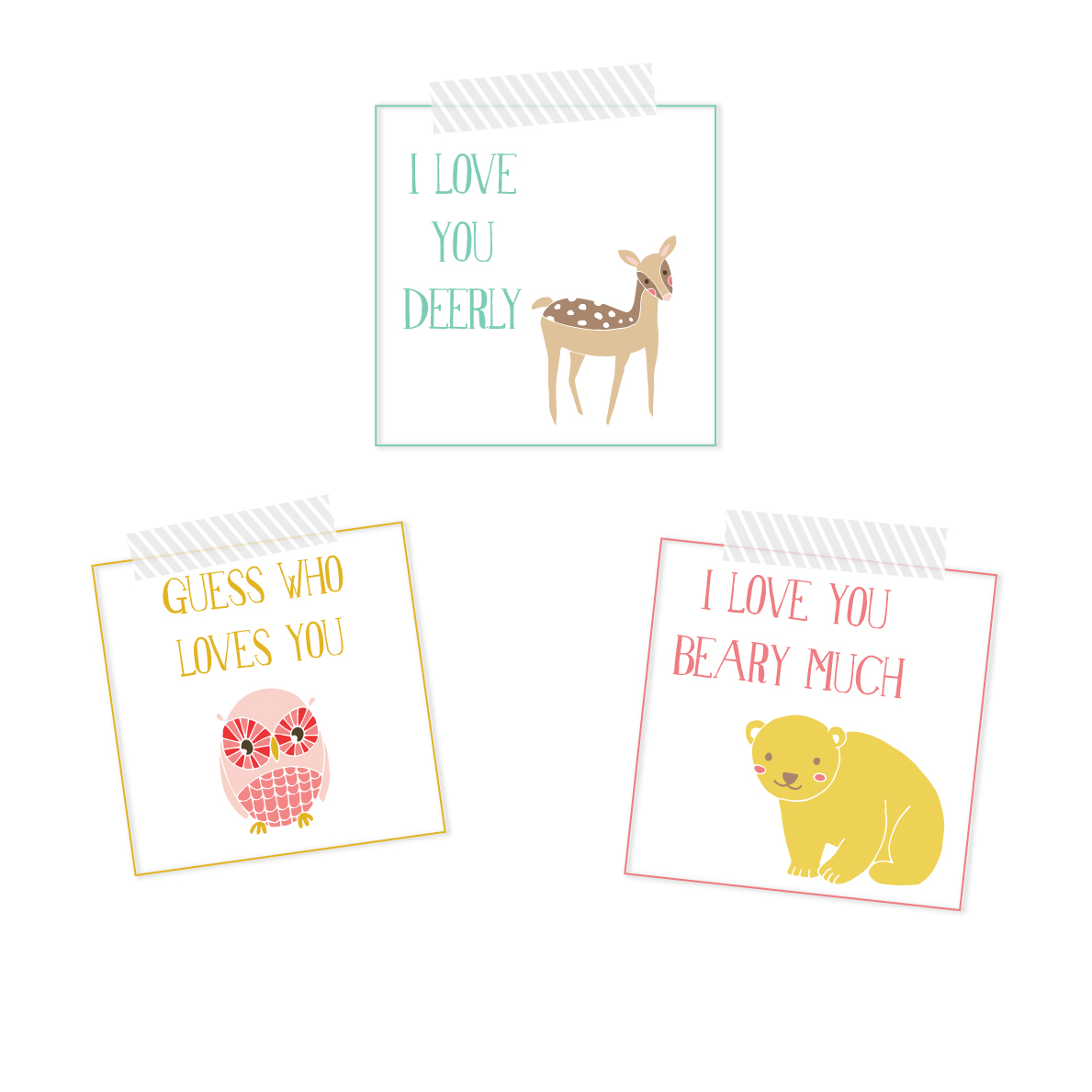 FREE Printable Lunch Notes for Kids | Looking for a sweet way to remind your kiddos how much you love them while they are away at school? Then these notes are perfect for you. Click through to download instantly.