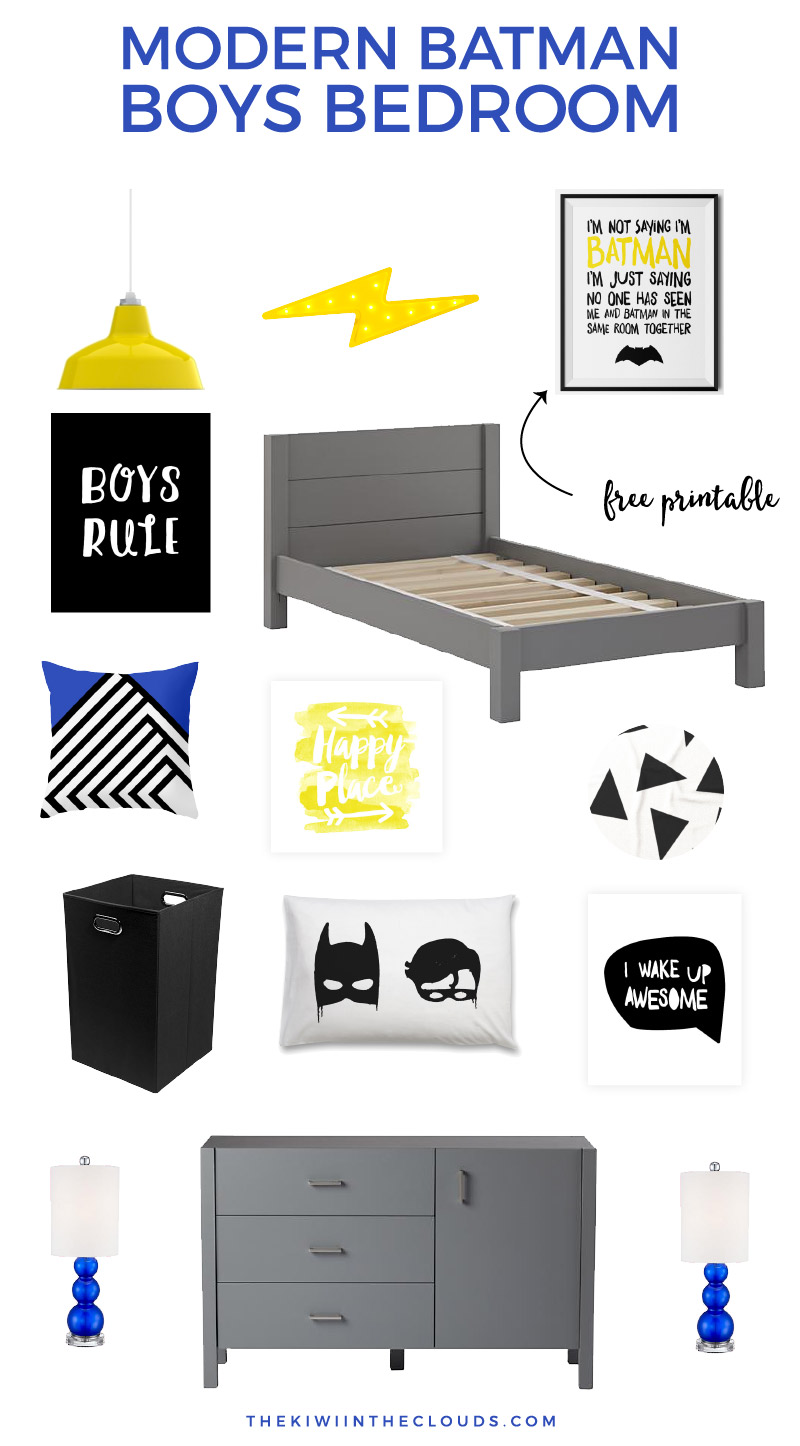 How To Make A Modern Batman Boys Room He Ll Love Spending