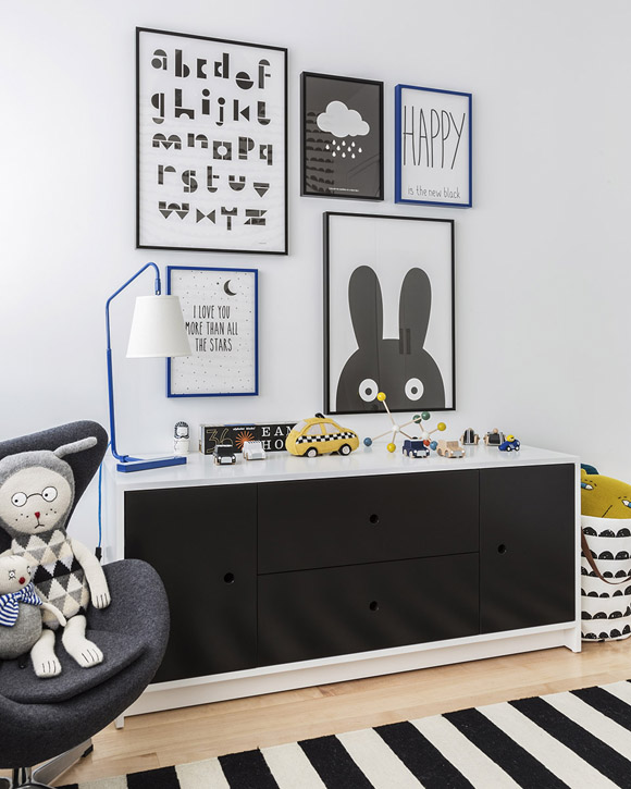 Scandinavian kids room | batman printables | modern minimal childrens room