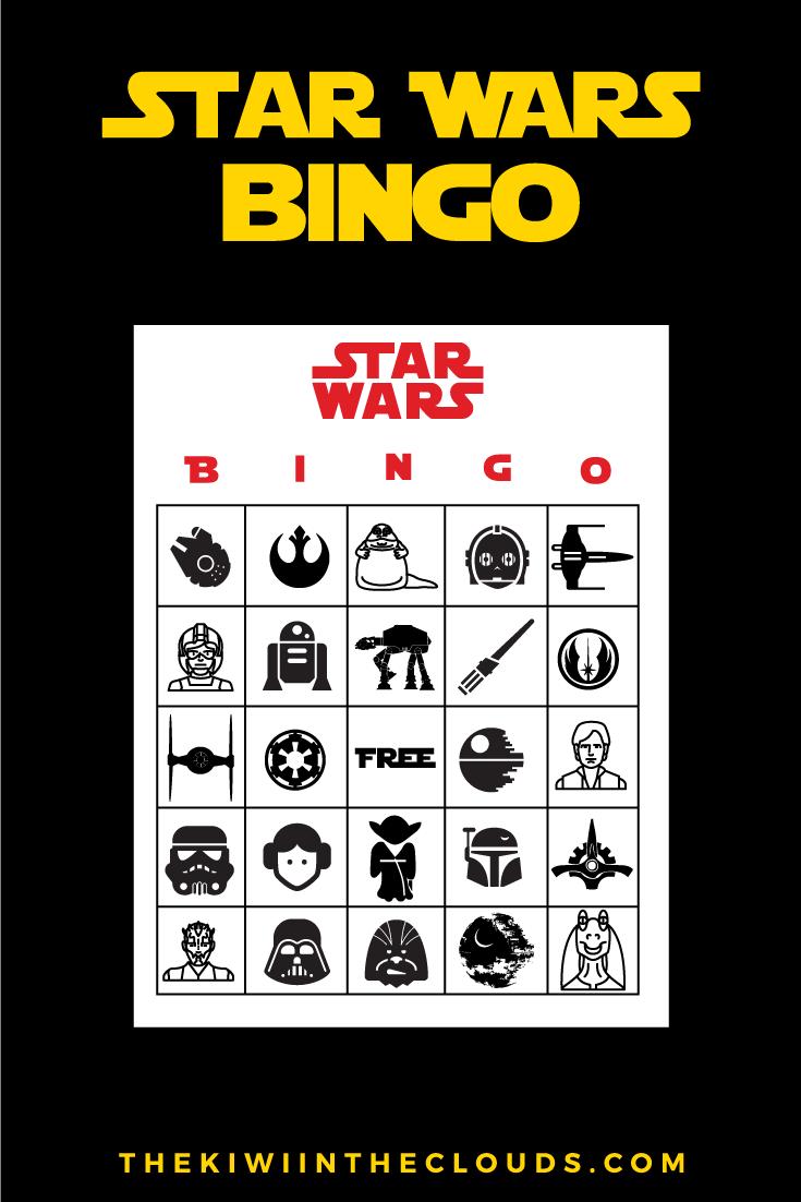 Star Wars Party FREE Printables | Star Wars Bingo