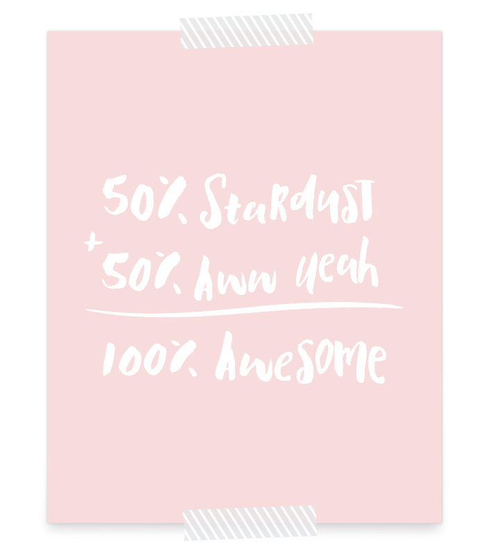 Made of Stardust FREE Printable | Click to download your free 8x10 of this art print that would look perfect in a baby girl's space themed nursery (or maybe in your own living room)!