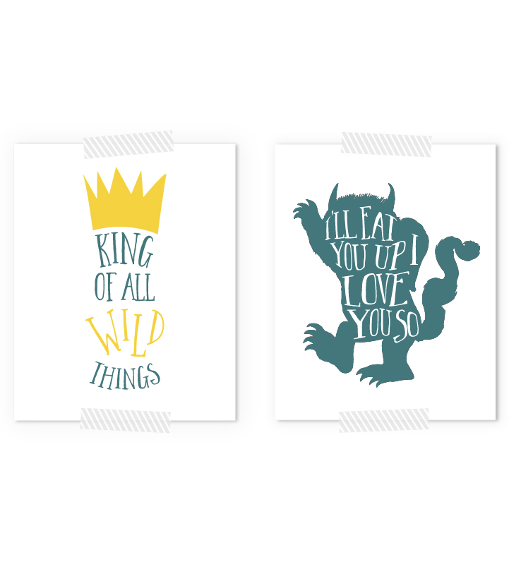 Where The Wild Things Are Free Printables | Nursery Art Prints
