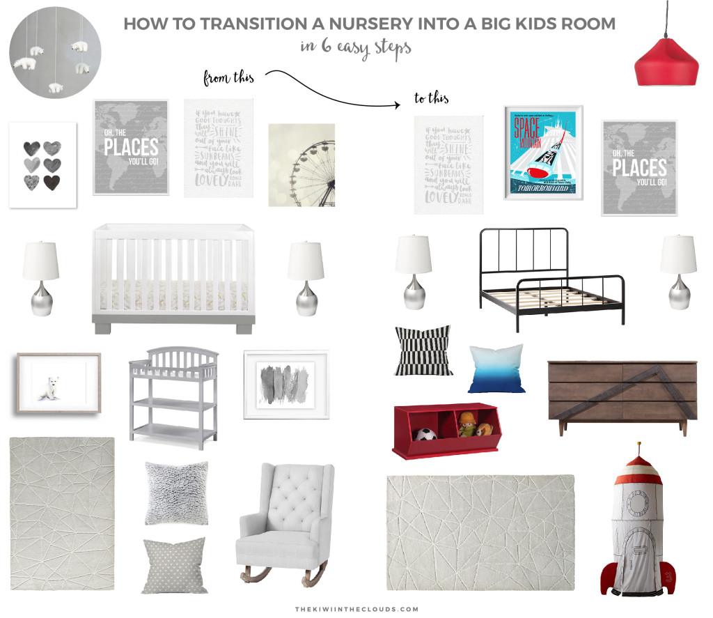 How To Transition A Nursery | Are you totally confused on how to convert your baby's room into a lasting kids room without a complete overhaul? Click through to read my 7 easy steps to make it a fun and safe space for a toddler!