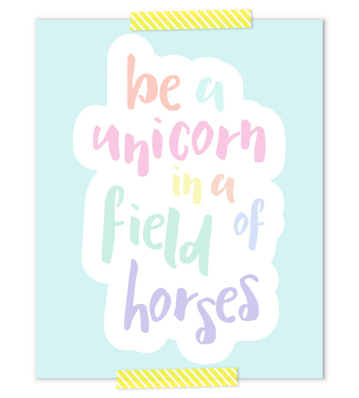 Unicorn Nursery Art