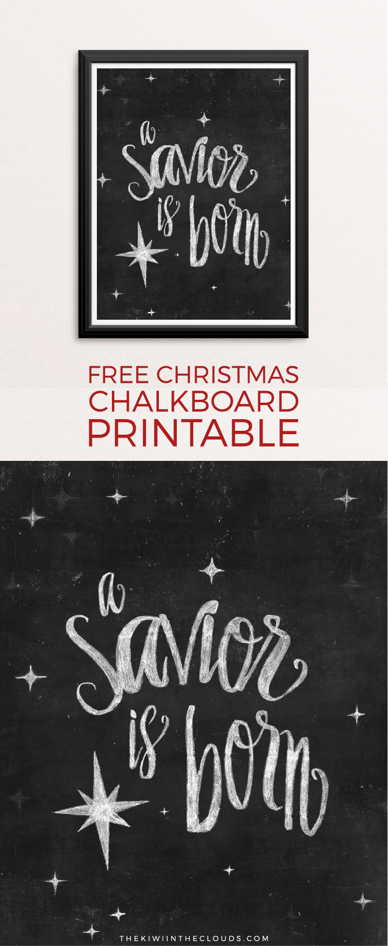 Christmas Free Printable | Holiday Art | Chalkboard Art