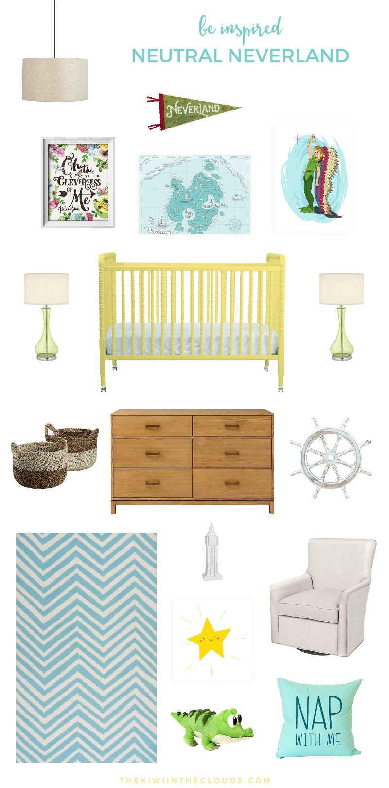Peter Pan Nursery | Gender Neutral Nursery | Baby Nursery Ideas