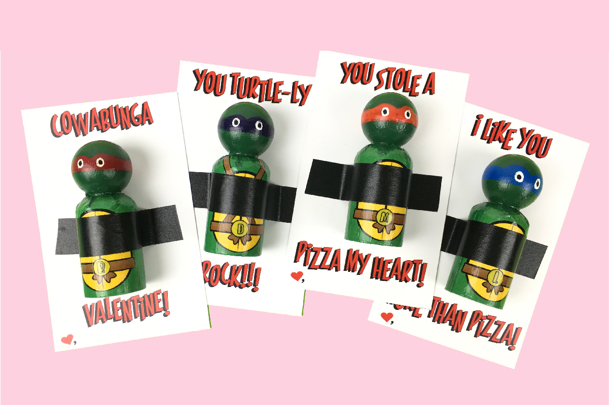 picture regarding Free Printable Ninja Turtle Pictures named Ninja Turtle Valentines Free of charge Printable