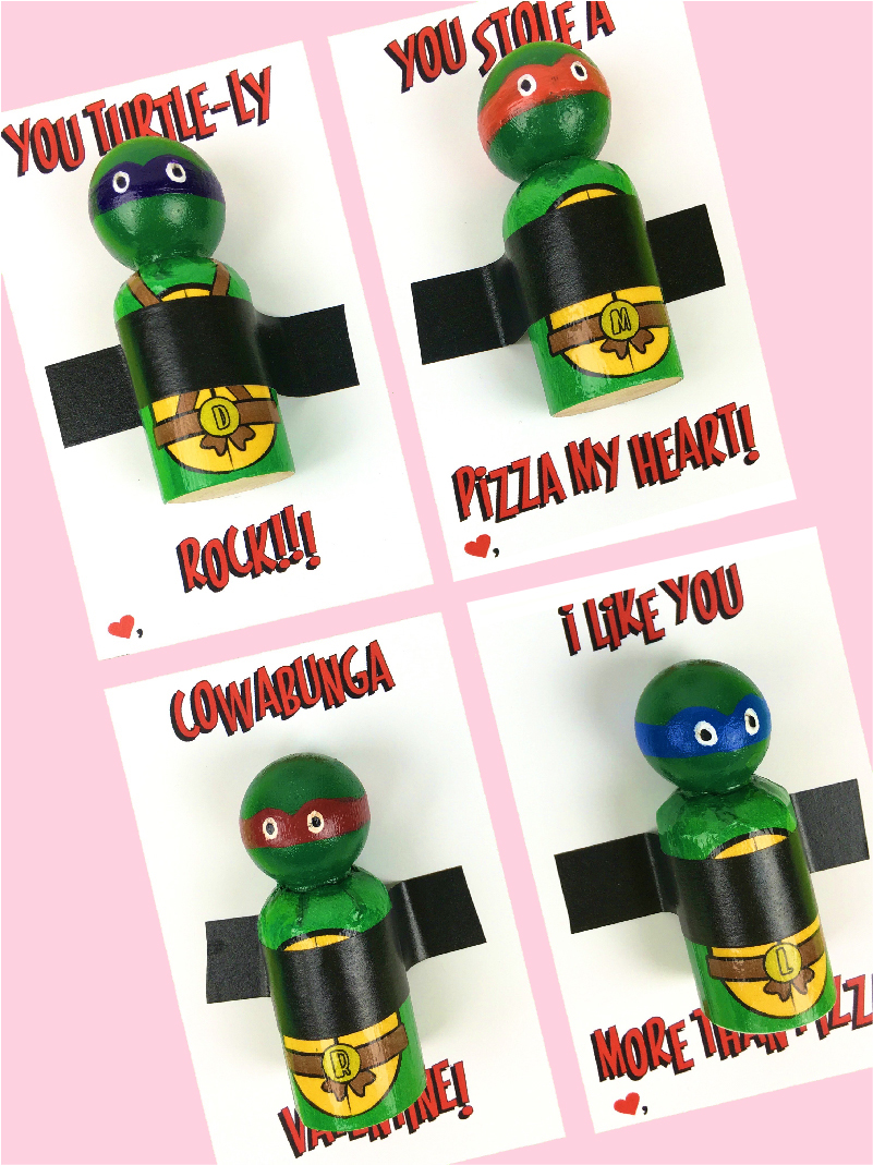 picture relating to Printable Ninja Turtles titled Ninja Turtle Valentines Totally free Printable