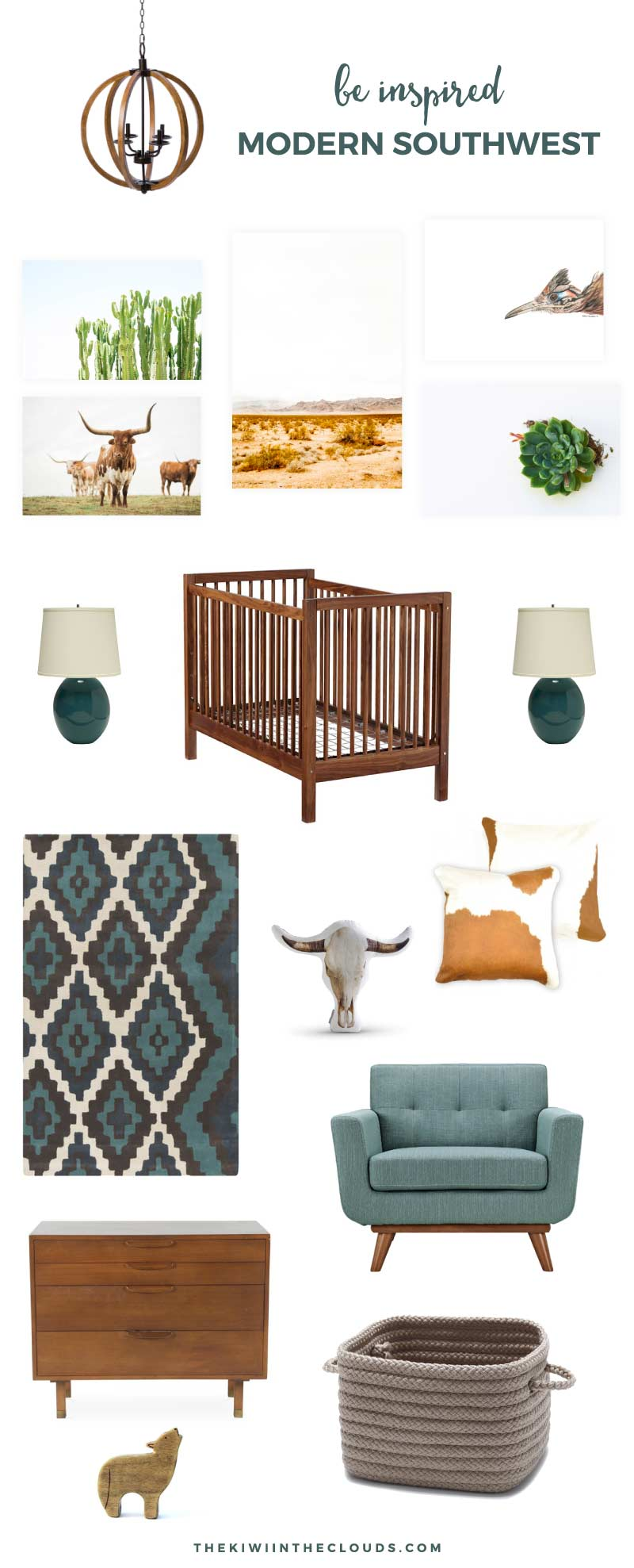 Southwest Nursery Decor | Embrace the natural beauty of the southwest with this modern and stylish nursery for boys and girls. Click through for all the details.