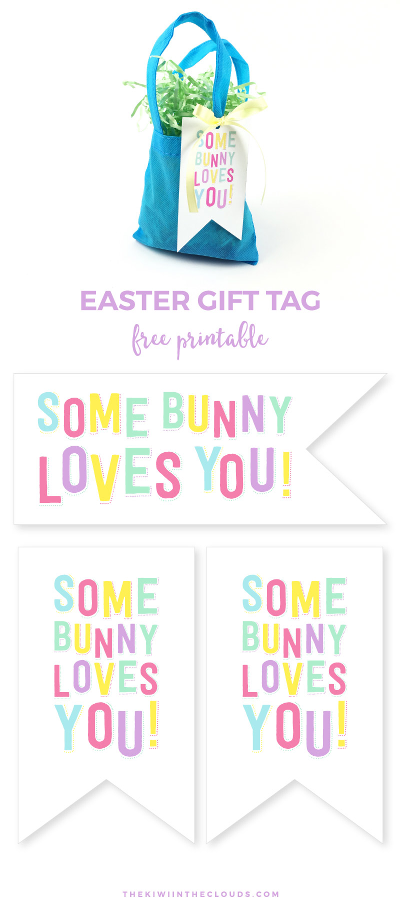 A dead simple easter gift for teacher printable somebunny loves you free printable easter tag come grab this cute easter gift tag and negle Images