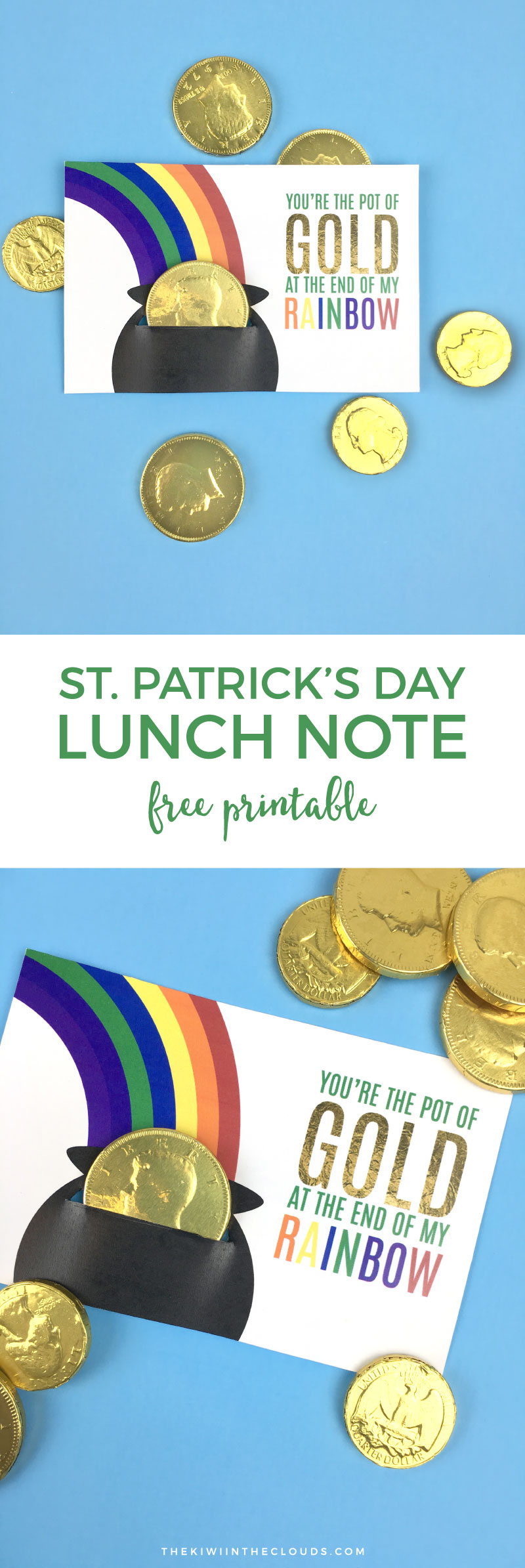 St. Patrick's Day Lunch Note Free Printable | Put a smile on your child's face on St. Patty's Day when they open up their lunch and find this cute and delicious lunch note.