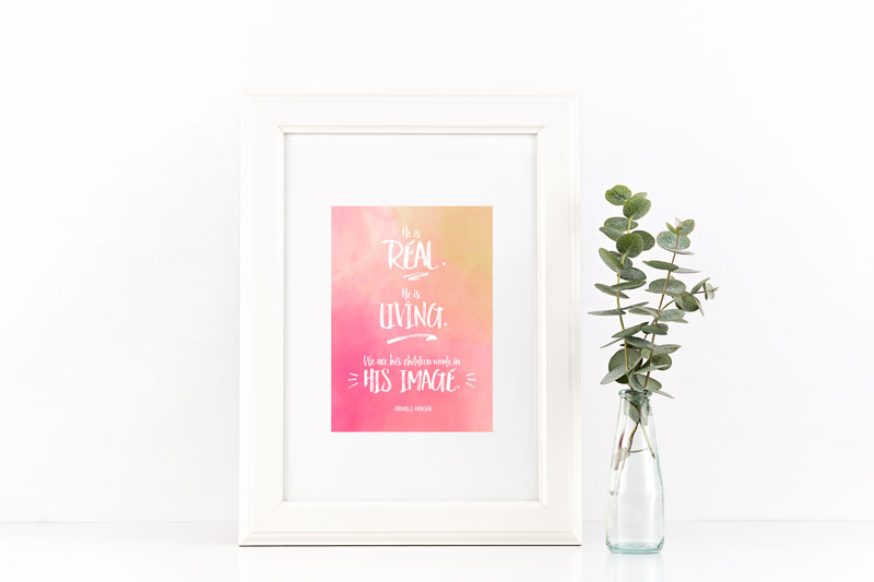 LDS Printables- VT | Come take a look at this free printable to give to the ladies you visit! It's also perfect for mailing, so click through to download your copy.