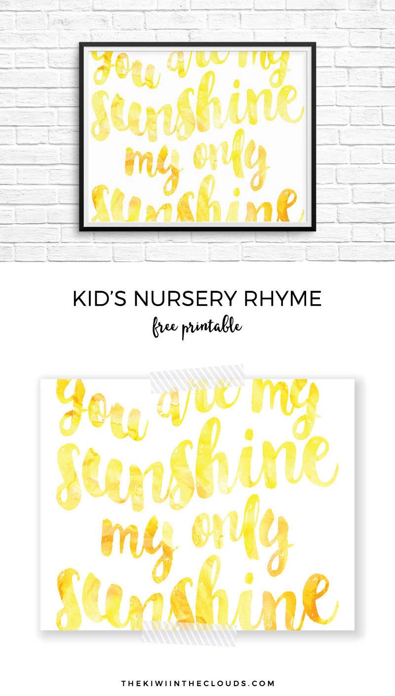 graphic regarding You Are My Sunshine Printable identified as This Yourself Are My Sun Printable Will Depart Your Nursery