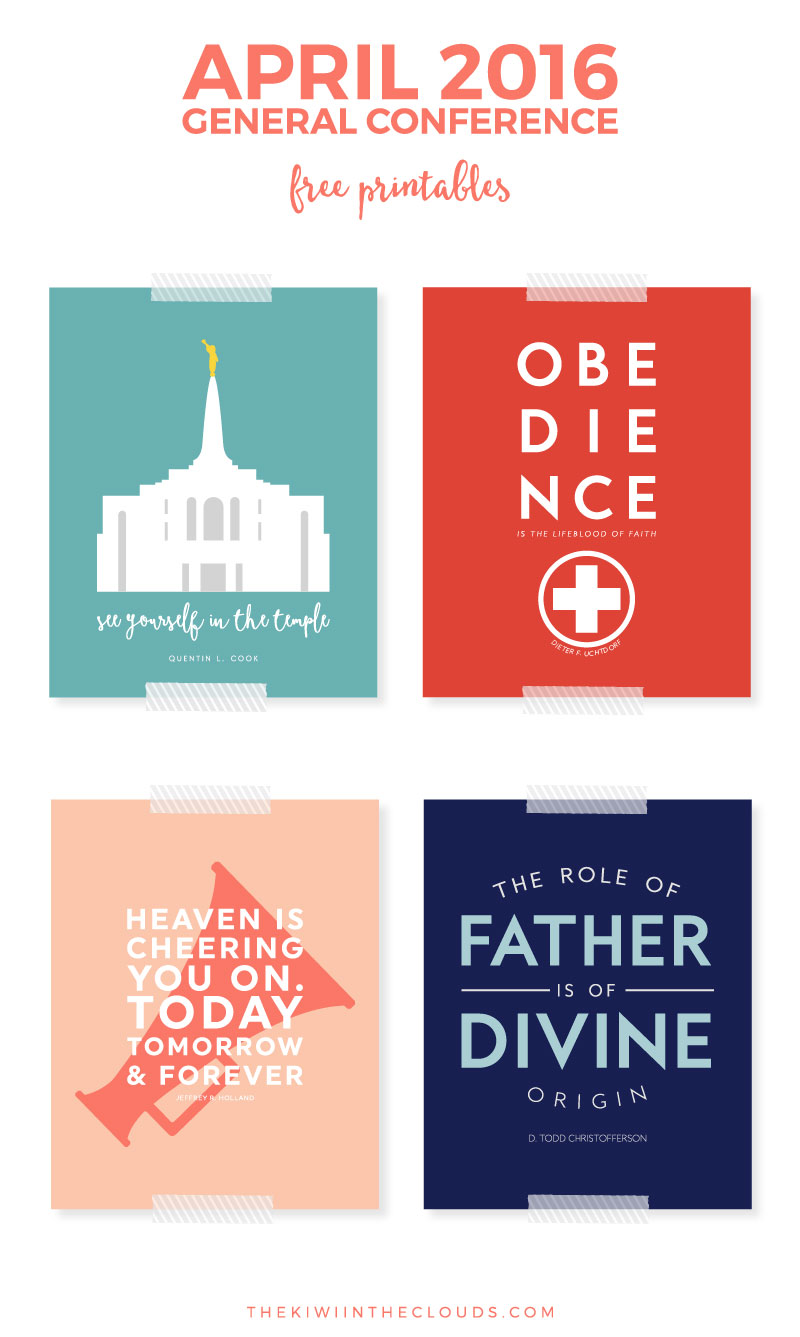 "Looking for a way to add a modern twist on LDS quotes? Then these free 8""x10"" General Conference Free Printables exactly what you need. Print them out and have them hanging in your home in no time flat!"
