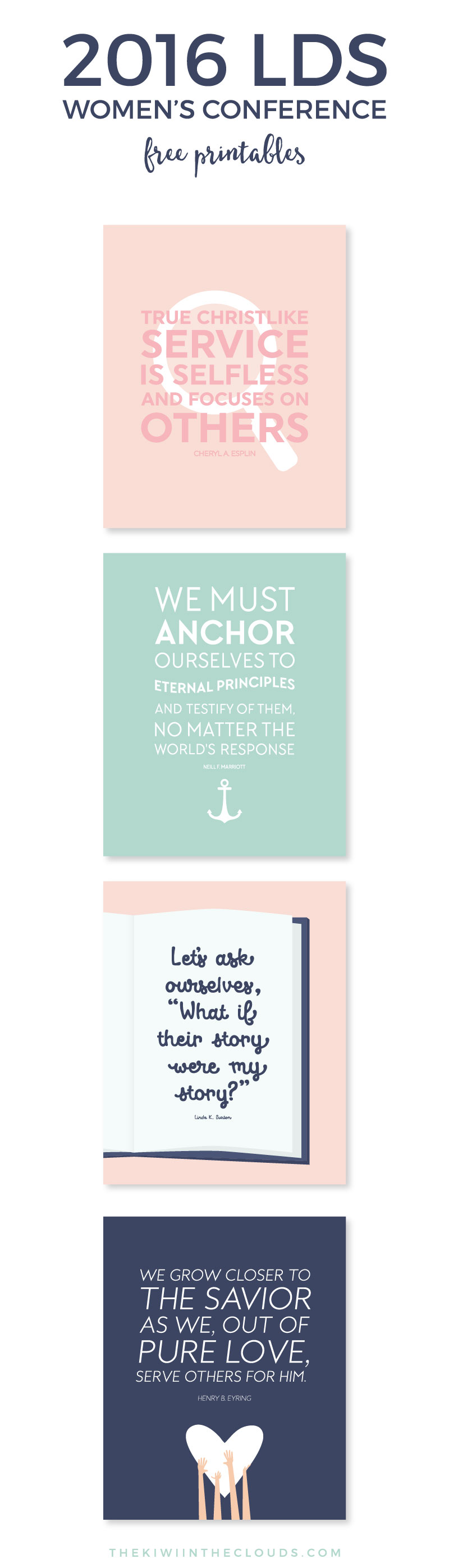 These LDS Womens Conference 2016 FREE printables are the perfect way to add inspiring and uplifting art to your home in an instant! They also make great visiting teaching handouts as well. Come by and download these today!