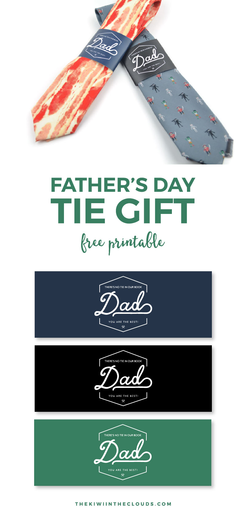 Searching for a fast Father's Day gift idea from the kids? Dad will love this one, especially when you add it to a fun, quirky tie! Click through to download your Father's Day FREE printable now.
