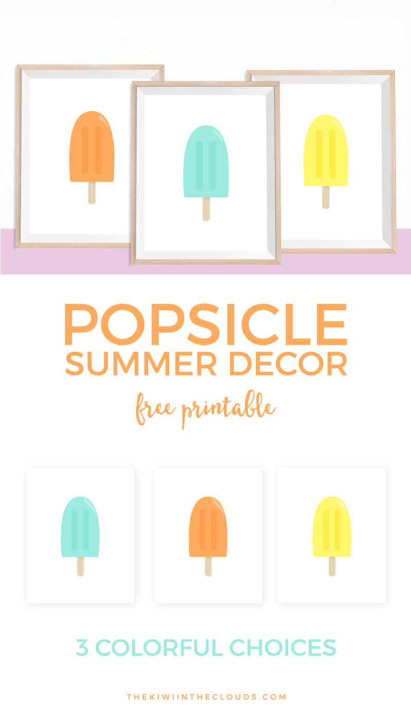 These free printable popsicle art printables are the ideal way to decorate your home during the summertime. Click through to add a splash of color to your home.