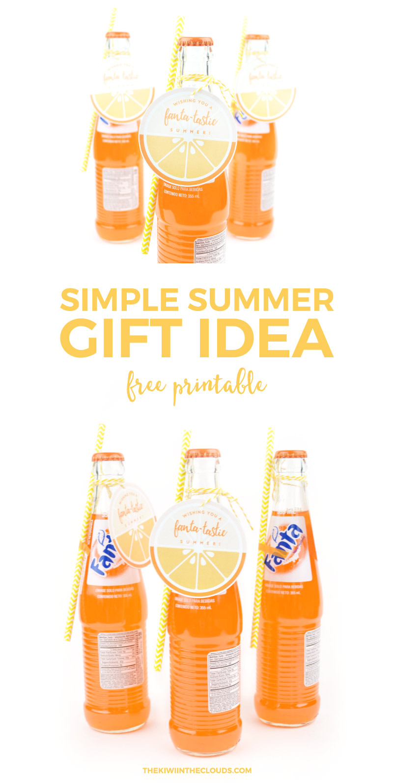Put together this super fast and easy summer gift for friends, teachers, kids or whoever you want to surprise. Click through to download your free printable now.