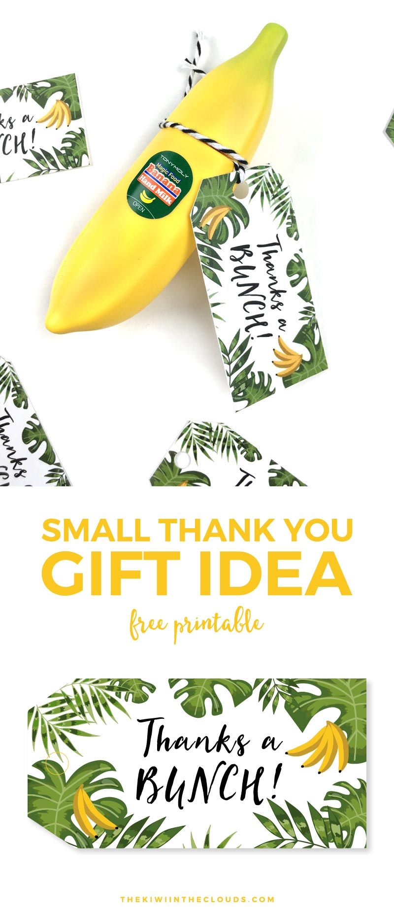 Small Thank You Gift | This small thank you gift idea is perfect for coworkers, friends, teachers or whoever you just want to say thanks to in a cute and quirky way! Click through to download your FREE printable thank you tag.