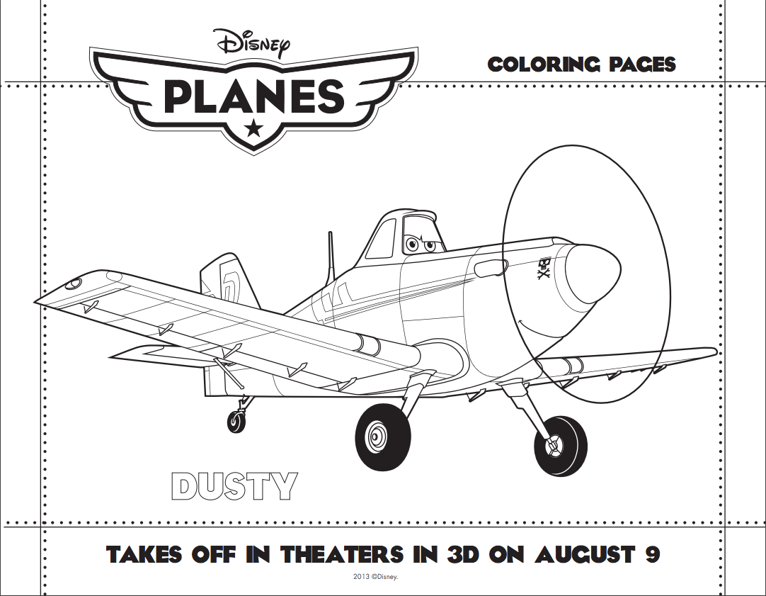 Dusty coloring page