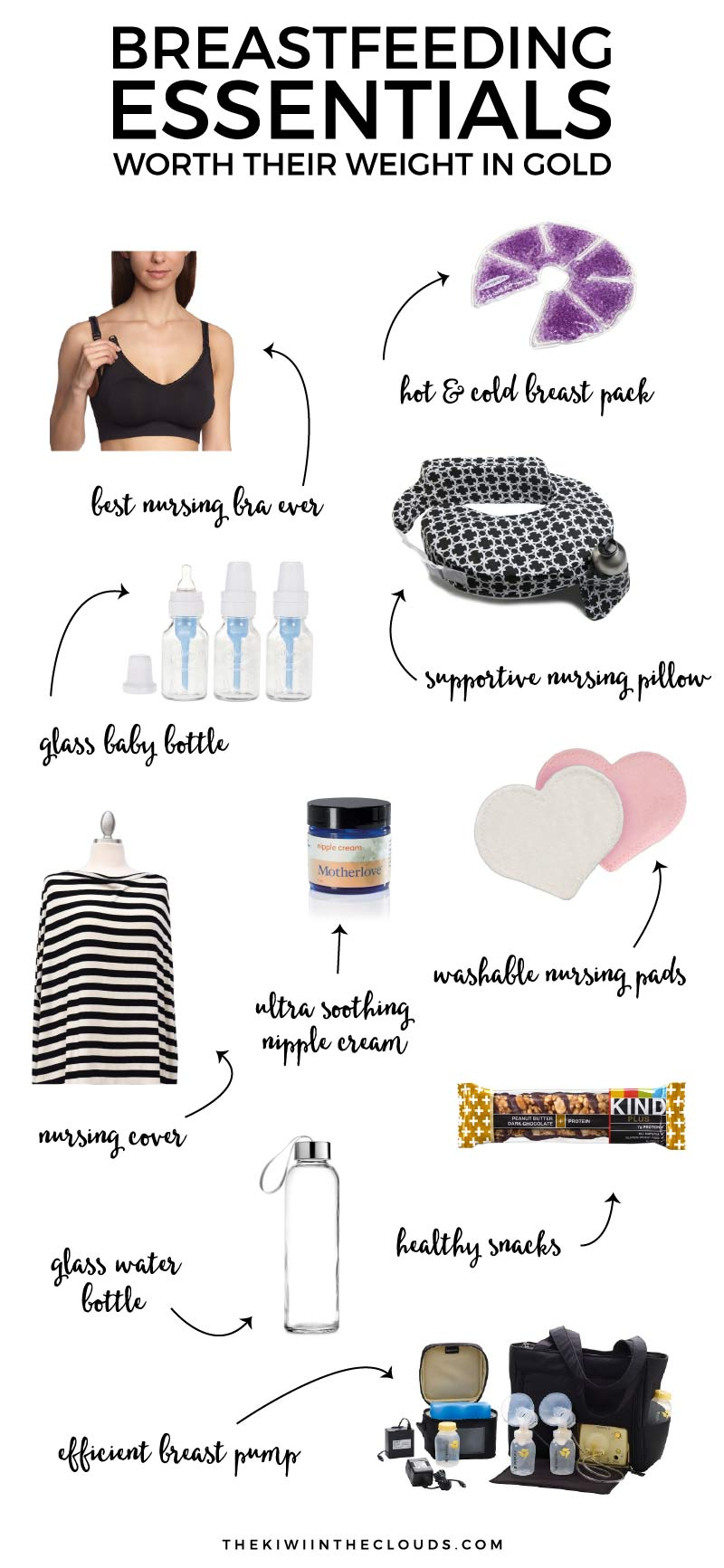 Set yourself up for nursing success with these ten breastfeeding essentials that are worth their weight in gold!! These products are insanely useful and are definitely breastfeeding must haves.
