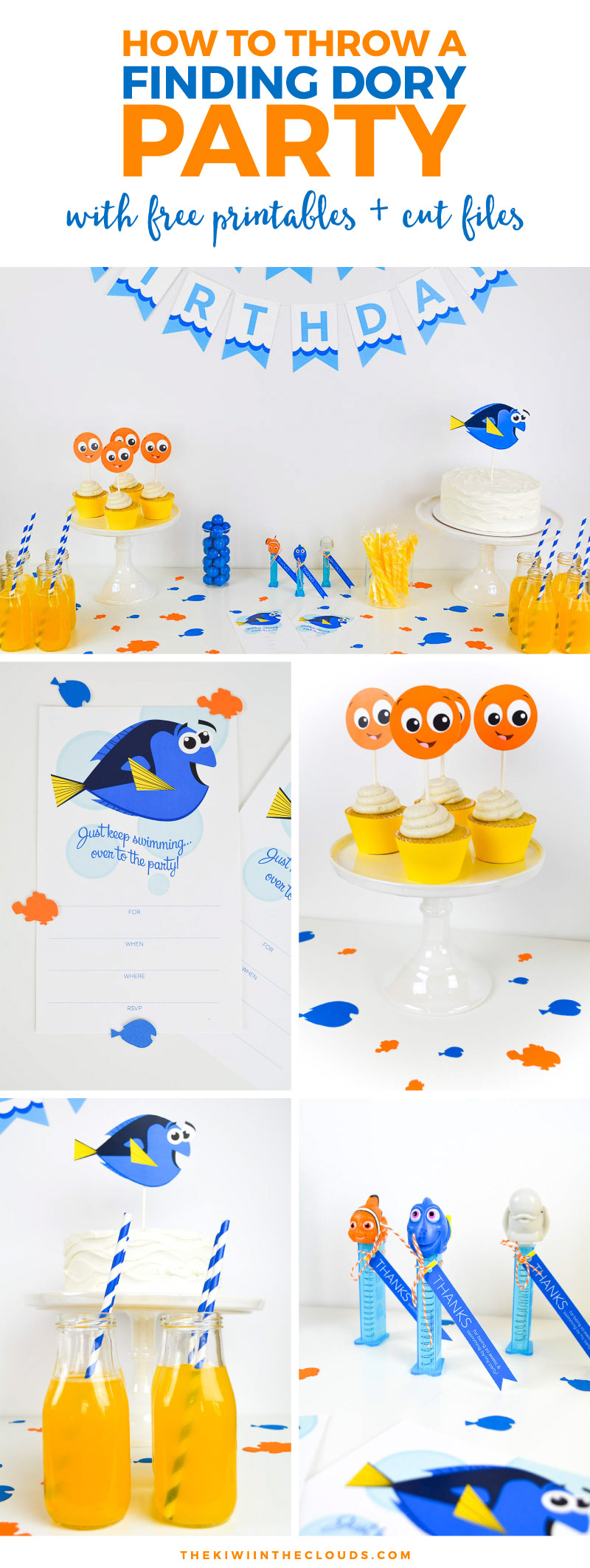 Finding Dory printables | party printables | Disney activities
