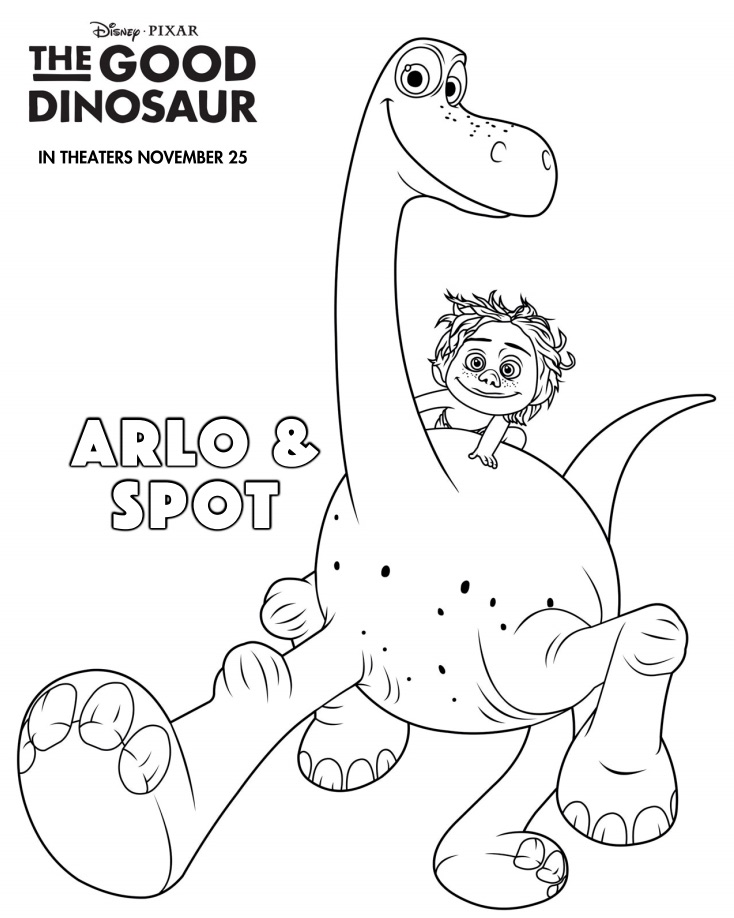 Arlo and Spot coloring page
