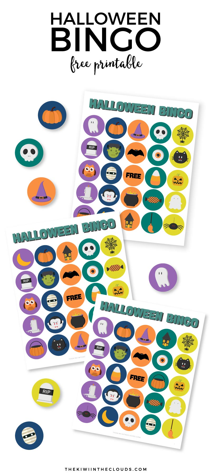 photo about Free Printable Halloween Bingo named The Most straightforward Halloween Bingo Playing cards for Small children (Free of charge Printable)