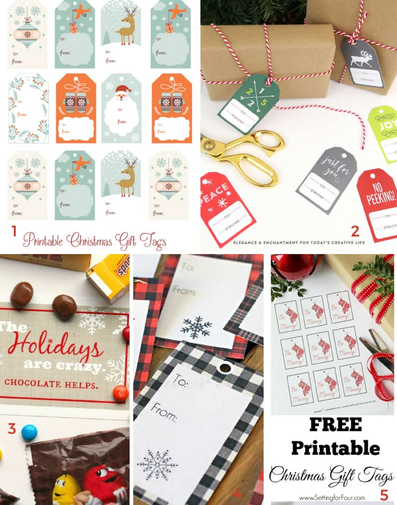 The ultimate guide to free Christmas printables. Tons of free printable gift tags, wall art, treat toppers and more!