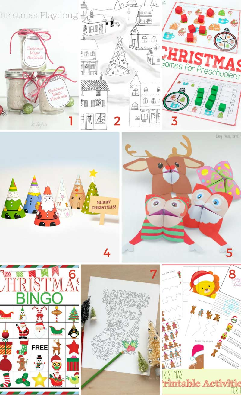 Fill all that free time over Christmas break with these fun and free Christmas printables for kids.