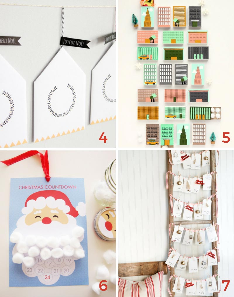 Choose from 7 different Christmas advent calendars with this ultimate guide to free Christmas printables.