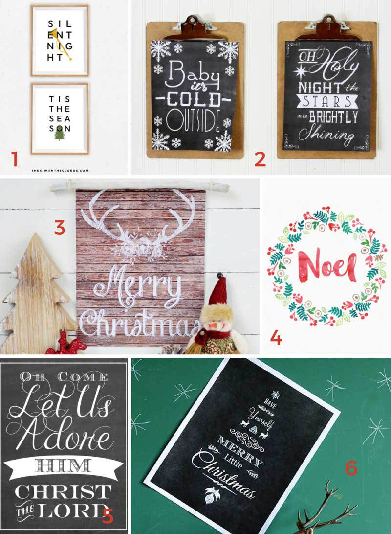 The ultimate collections of free Christmas printables; from wall art, to gift tags, to gift ideas and more!