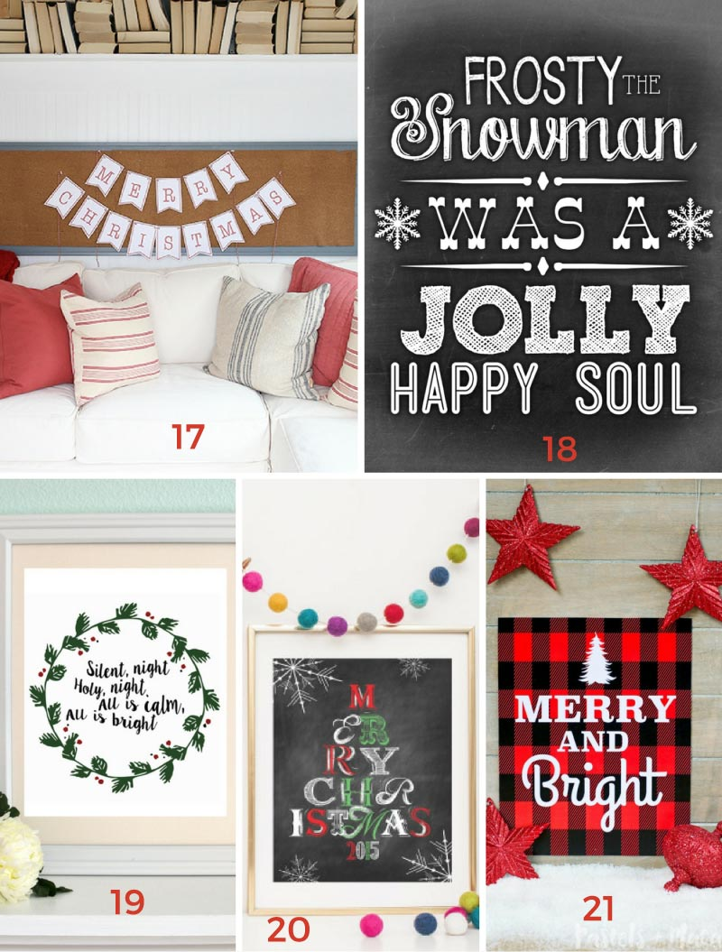 Over 200 free Christmas printables available! Anything you need from decorations, to gift tags, to wrapping paper and more!