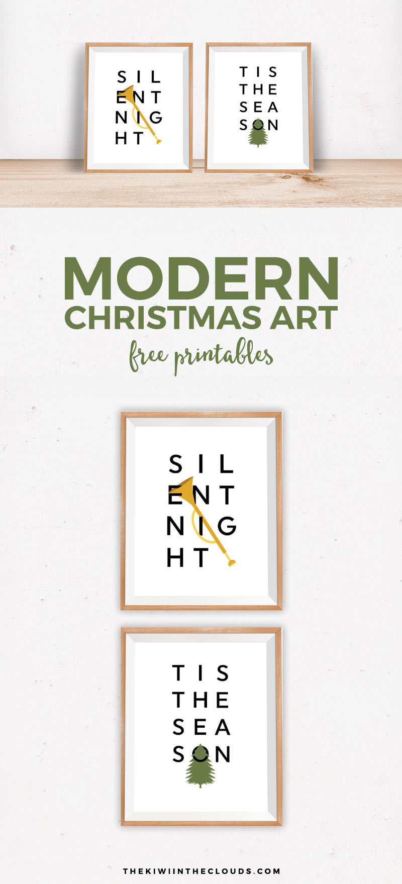Celebrate the holiday season with these free Christmas prints. They're modern, simple and let your home decor shine.