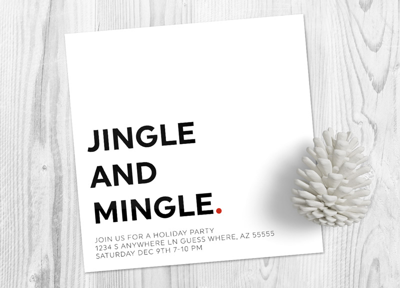 purchase this modern and simple christmas party invitation from my etsy shop