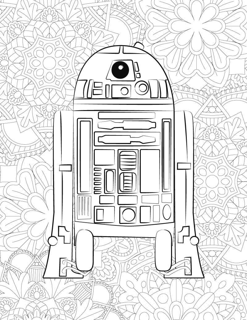 FREE Star Wars Printable Coloring Pages: BB-8 & C2-B5