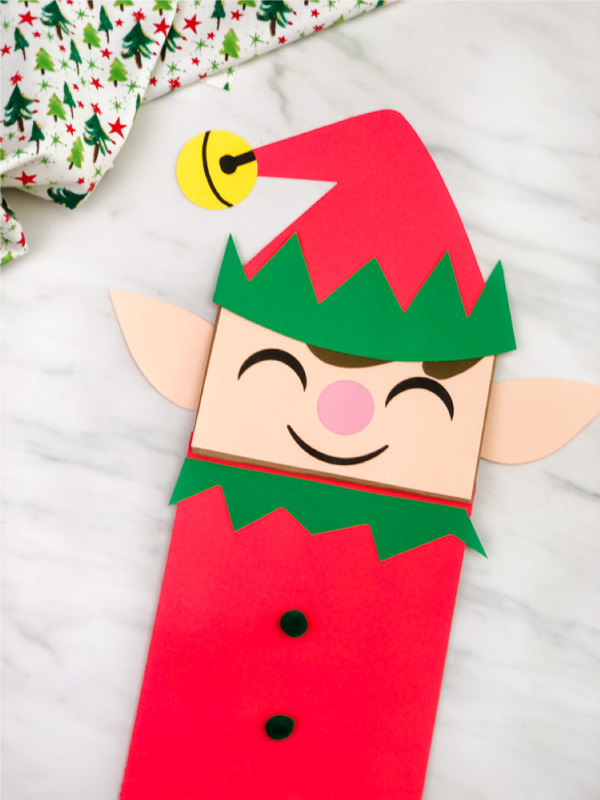 kraft paper bag elf craft