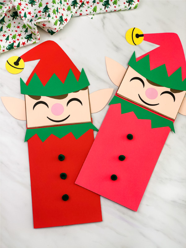paper bag elf craft